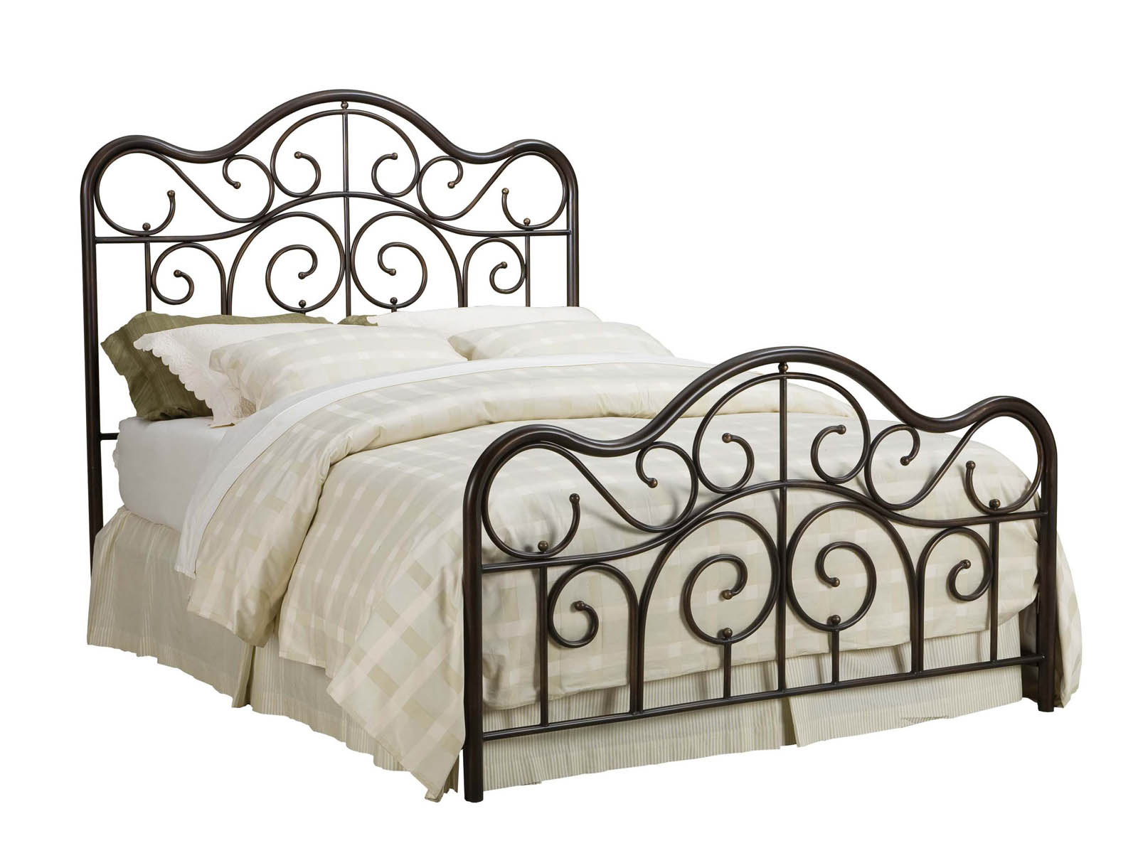 metal bedroom sets. standard furniture santa cruz queen metal bed in cherry 56202 - brands bedroom sets