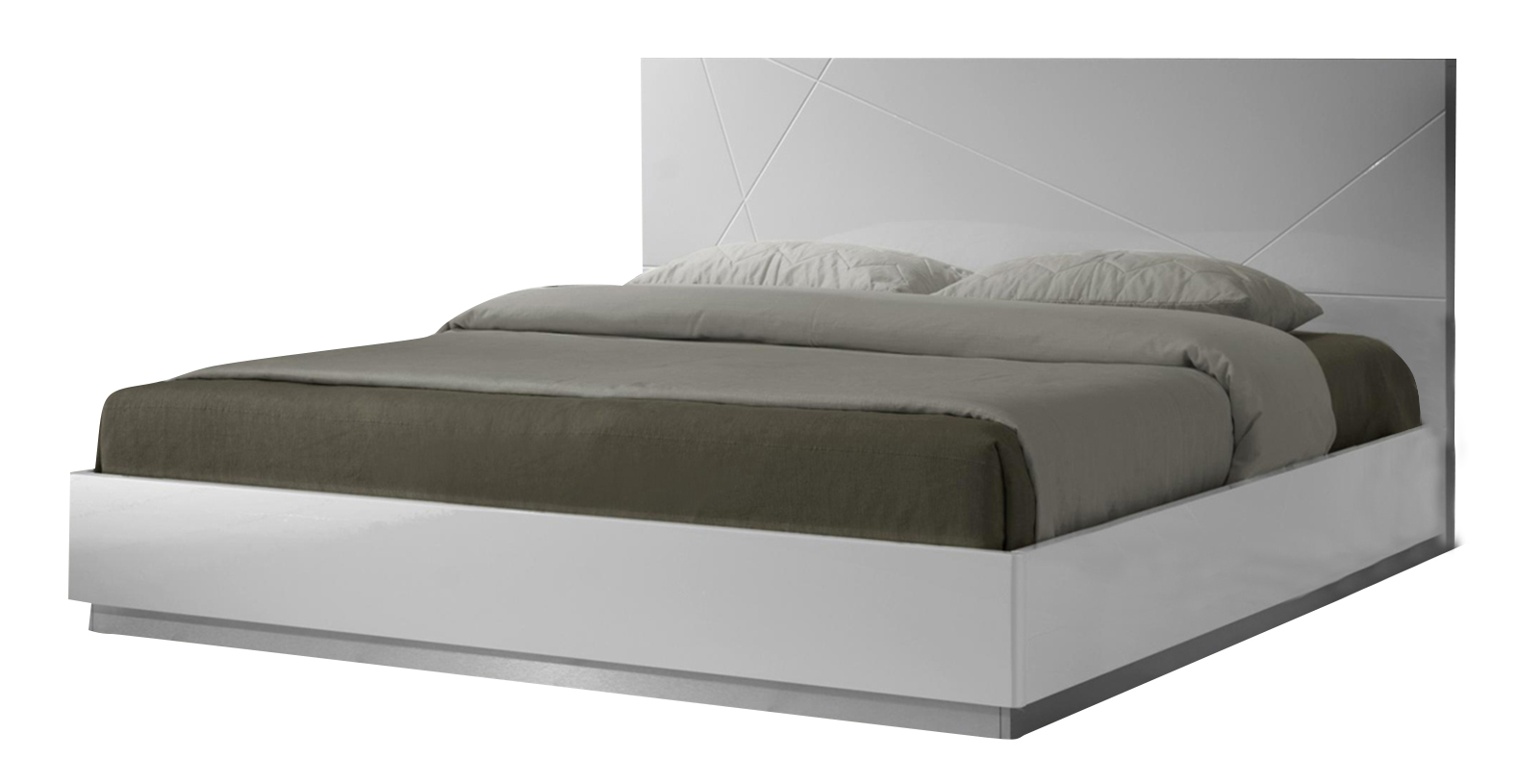 J M Naples Full Platform Bed In White Lacquer 17686 F