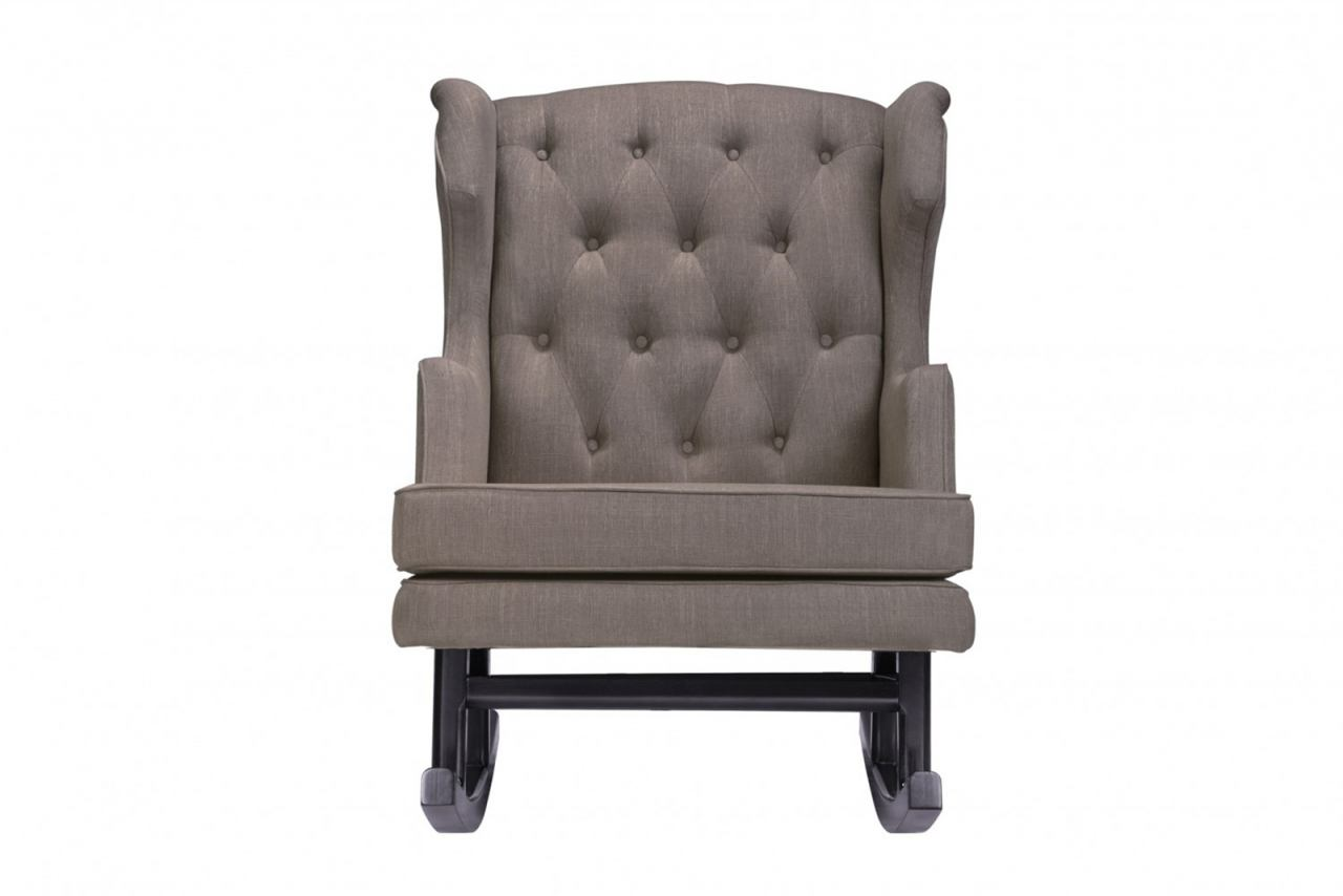 Nursery Works Empire Rocker in Hazelnut Weave Fabric with Dark Legs 1024HZ