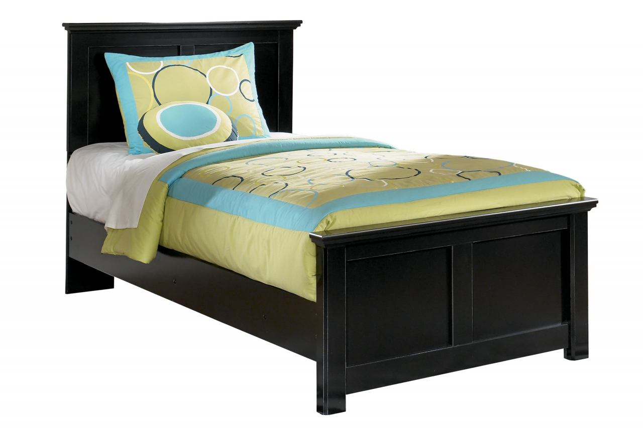 Maribel Youth Twin Panel Bed in Black
