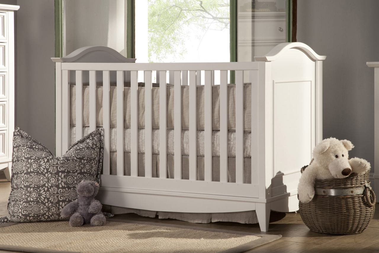 Franklin & Ben Arlington 3-in-1 Convertible Crib with Toddler Rail in White B6401W