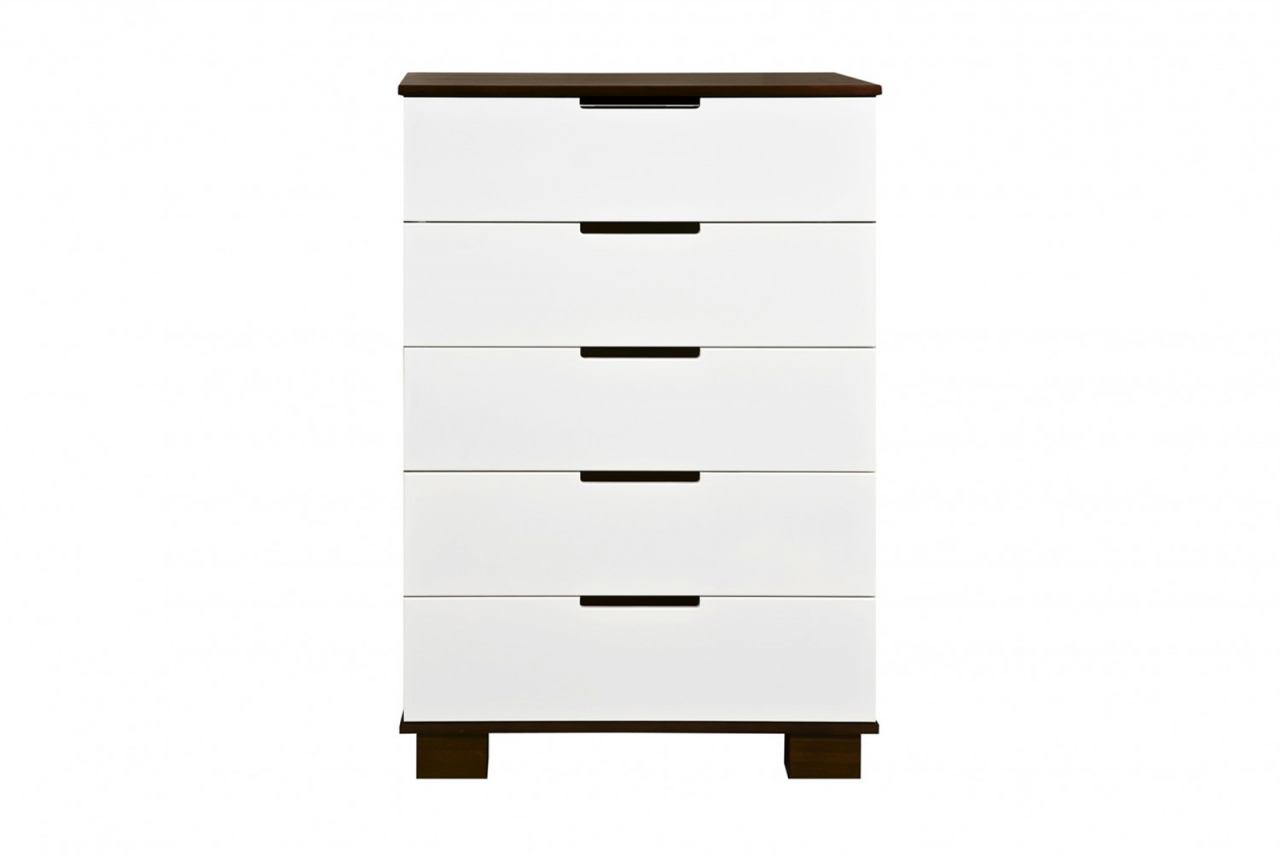 Babyletto Modo 5 Drawer Dresser in Espresso/White M6725QW