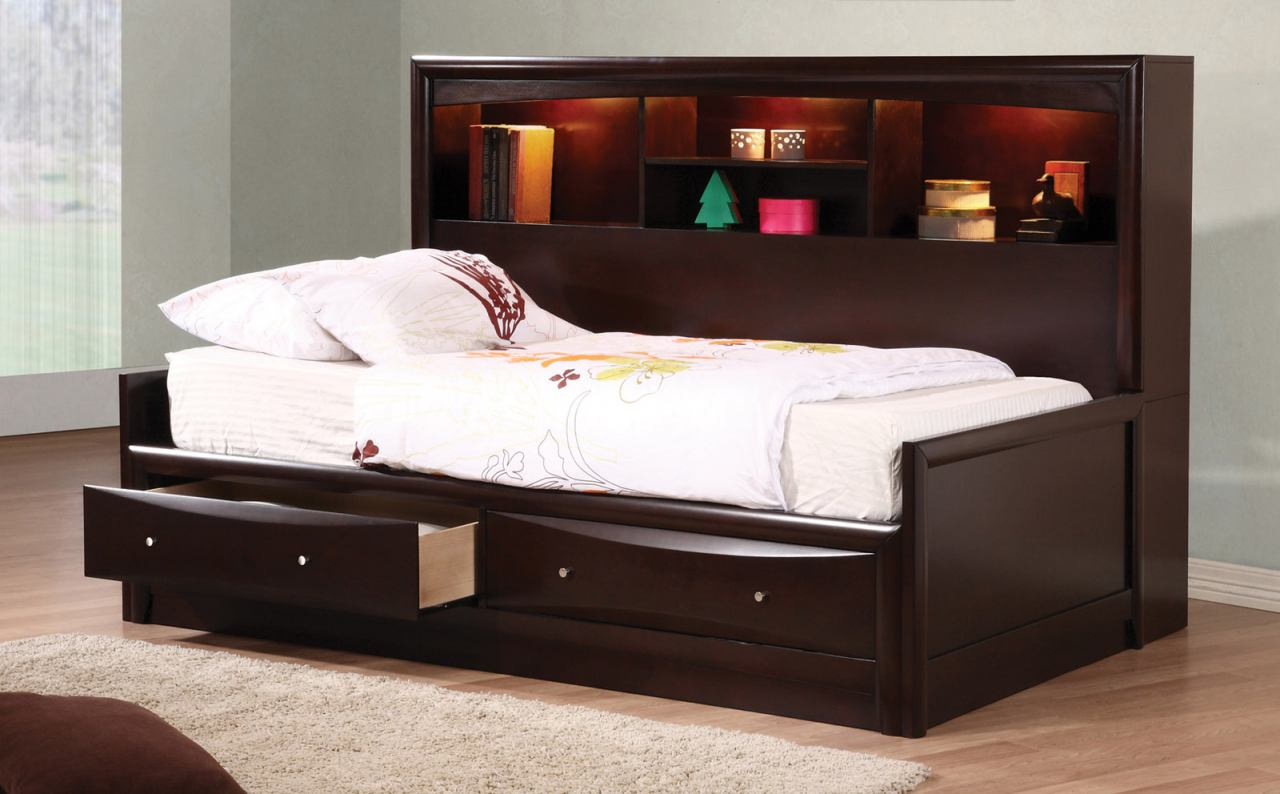 Coaster Phoenix Youth Full Daybed in Cappuccino 400410F