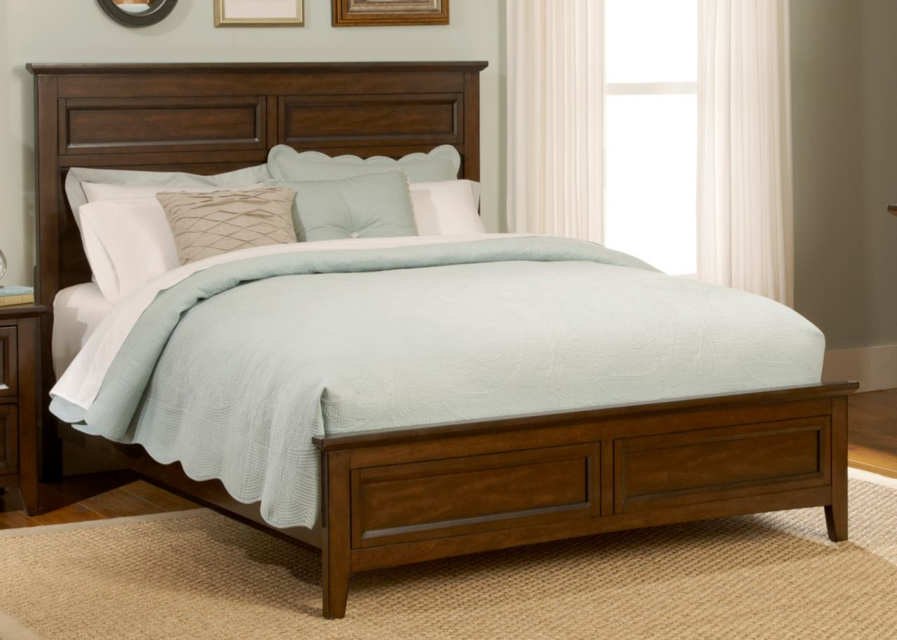 Liberty Furniture Laurel Creek Queen Panel Bed in Cinnamon 461-BR-QPB