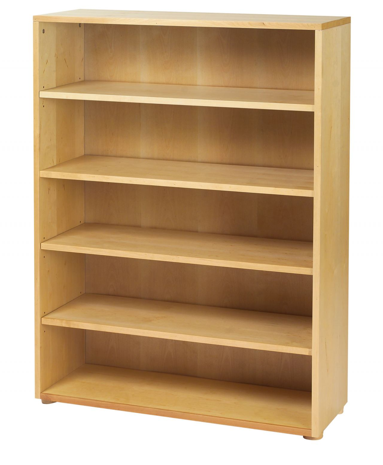 Maxtrix 5 Shelf Bookcase without Crown and Base in Natural 4750-001