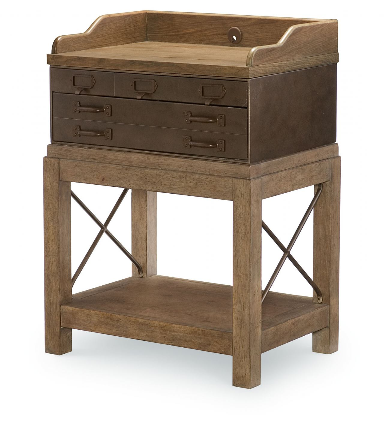 Legacy Classic Metalworks Bedside Chest in Factory Chic 5610-3200 CODE:UNIV20 for 20% Off