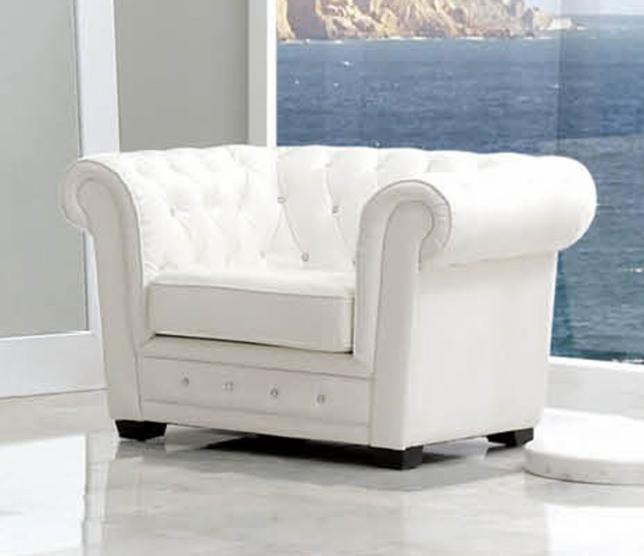 ESF Furniture 624 Coco Armchair SF24 in White