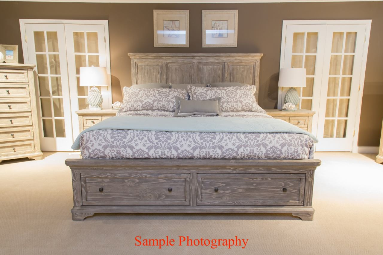 Liberty Highlands Queen Panel Bed in Gravel 727-BR-QPB