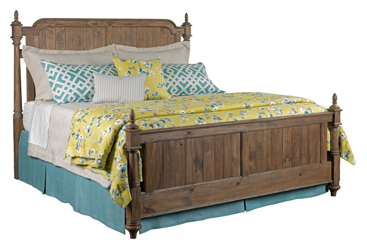 Kincaid Weatherford Westland King Poster Bed in Grey Heather