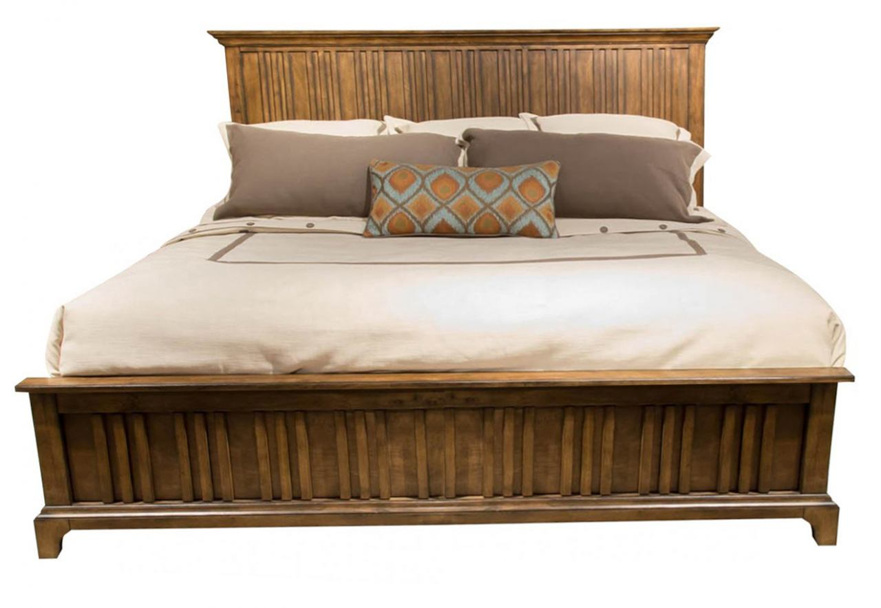 Liberty Mill Creek King Panel Bed in Rustic Cherry 458-BR-KPB