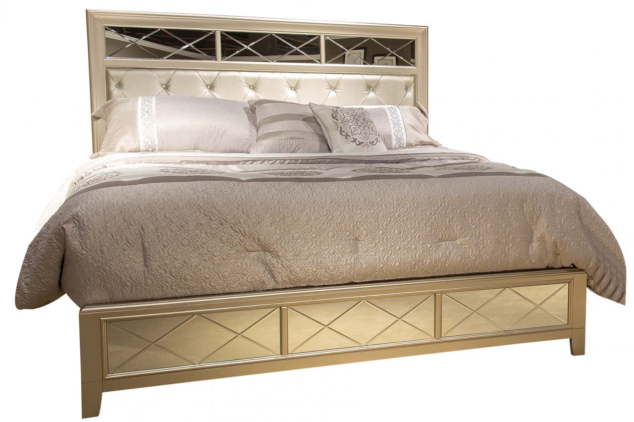 Liberty Beverly Boulevard Queen Panel Bed in Champagne Wash 732-BR-QPB