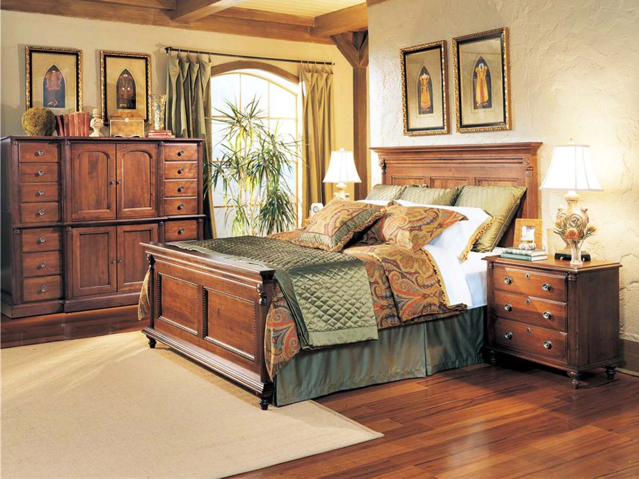 Durham Furniture Savile Row 4-piece Panel Bedroom Set in Victorian ...