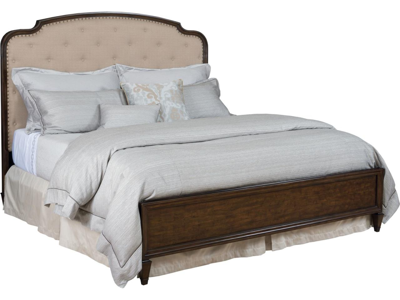 American Drew Grantham Hall Queen Panel Upholstered Bed in Cherry 512-313R CODE:UNIV20 for 20% Off