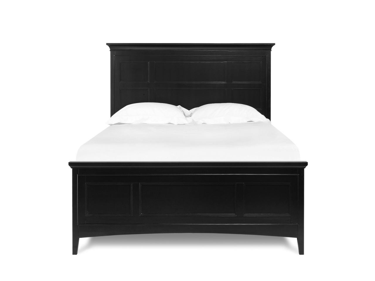 Magnussen Furniture Southampton King Panel Bed with Storage Rails in Black B1399-64SR