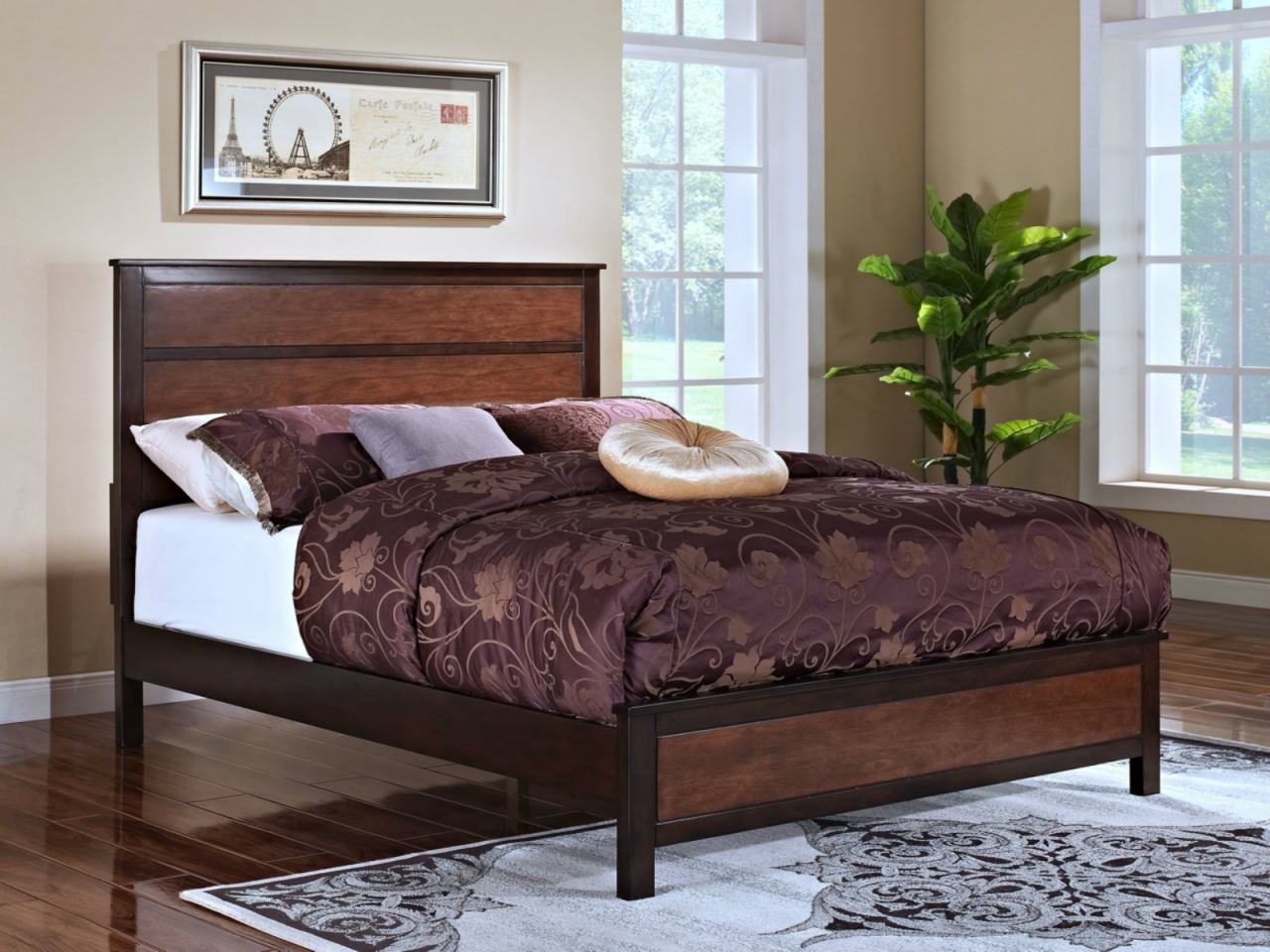 New Classic Bishop King Panel Bed in Chestnut & Ginger