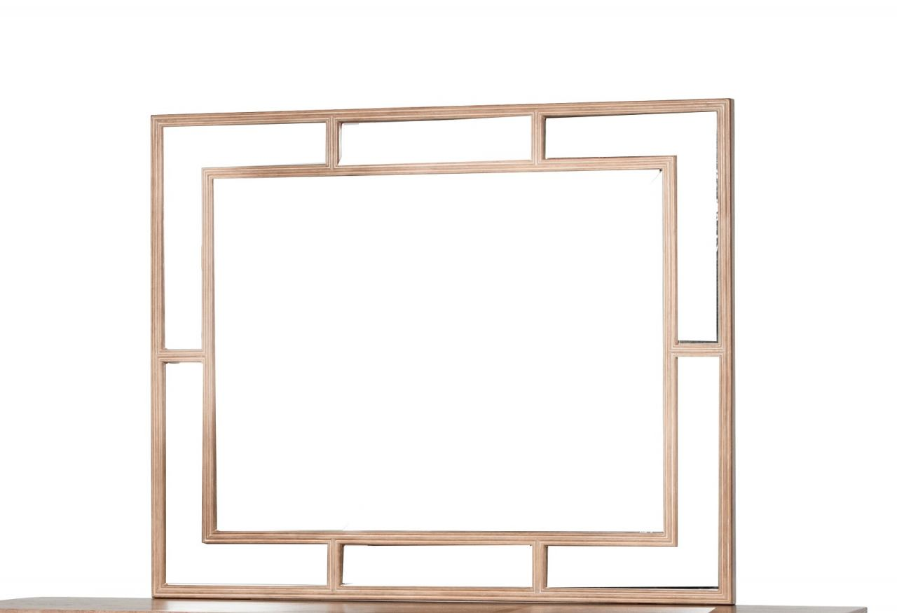 AICO Biscayne West Wall Mirror in Sand 80260-102