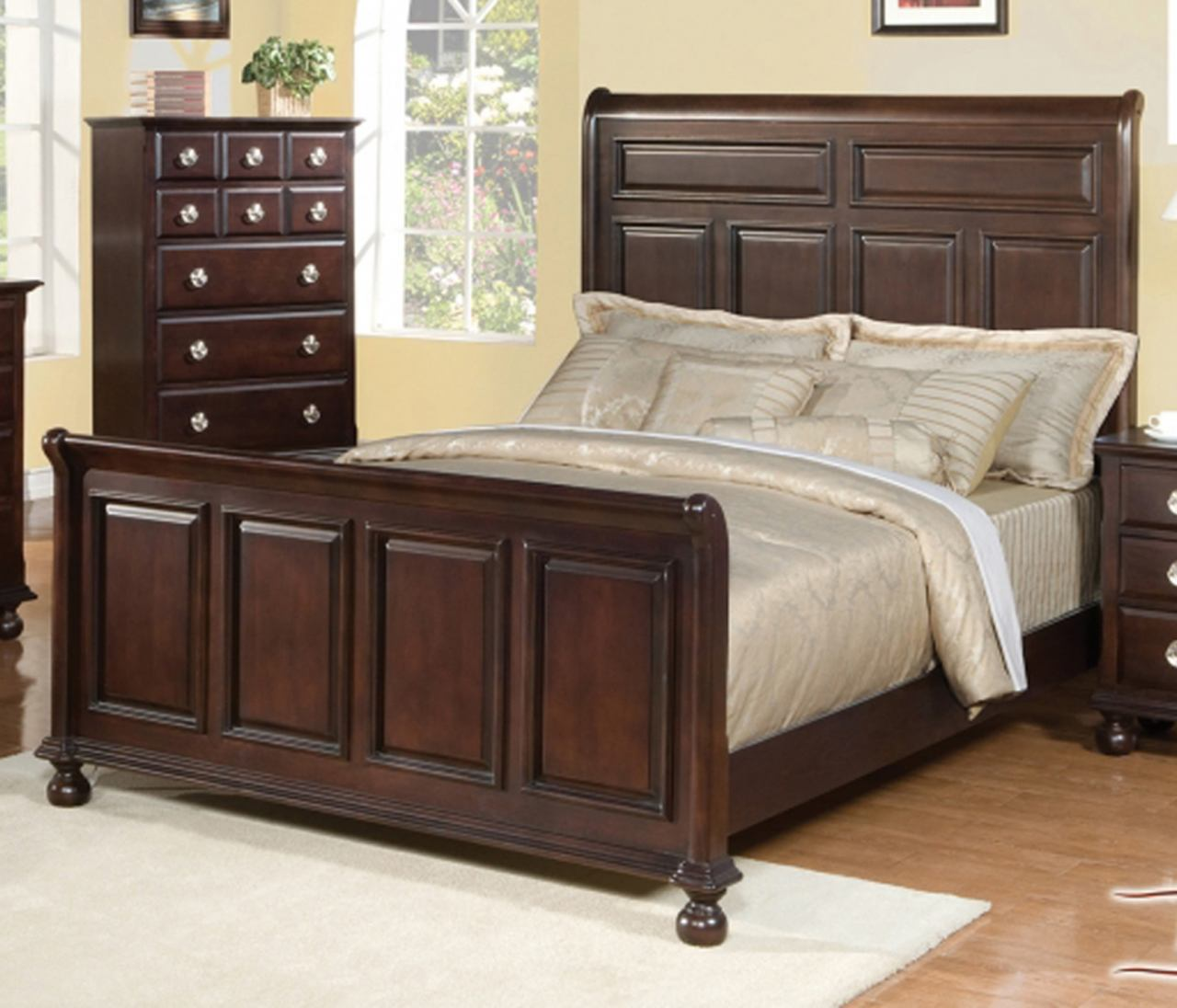 Meridian Brooke King Panel Bed in Espresso