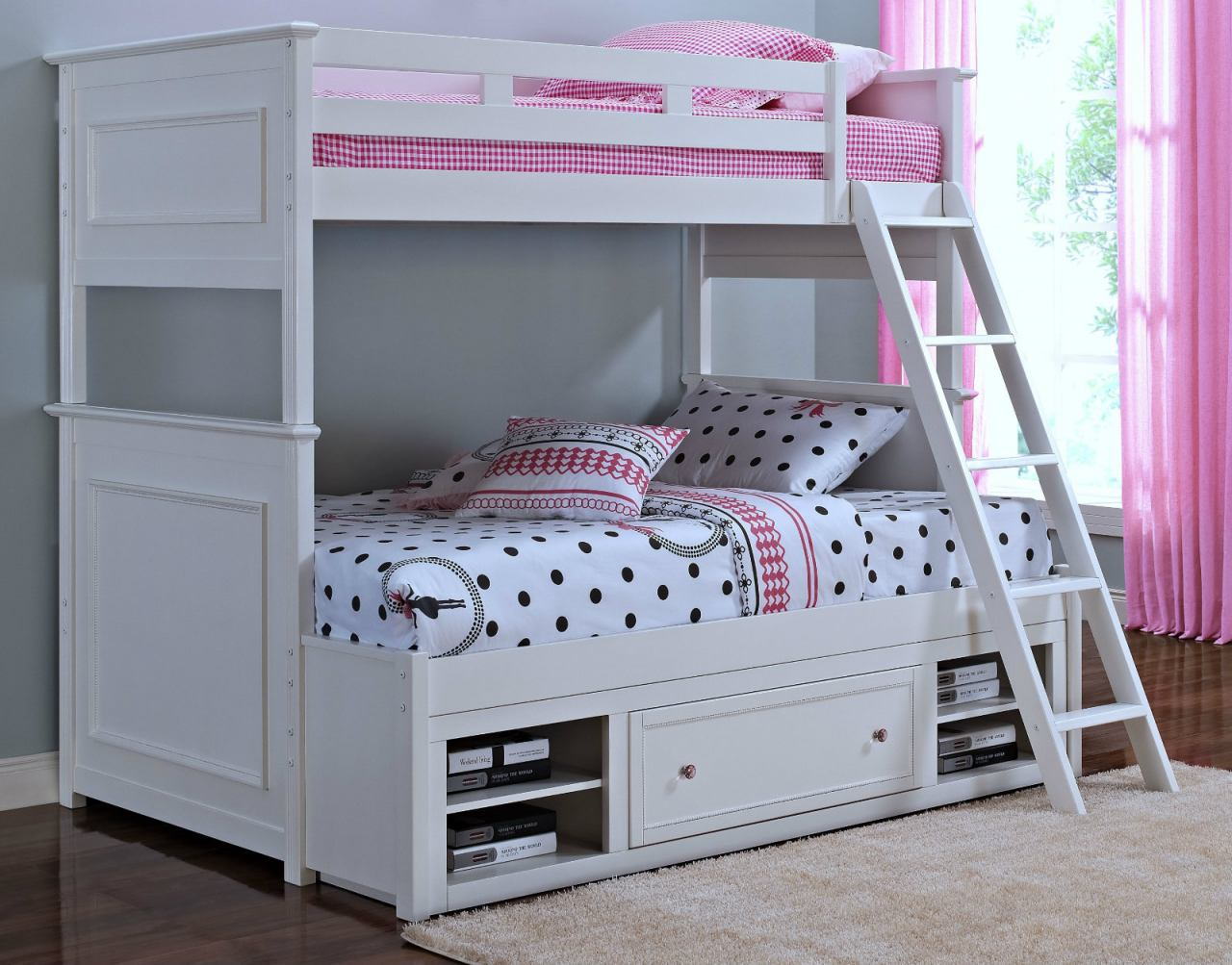 New Classic Megan Bunk Bedroom Set in White