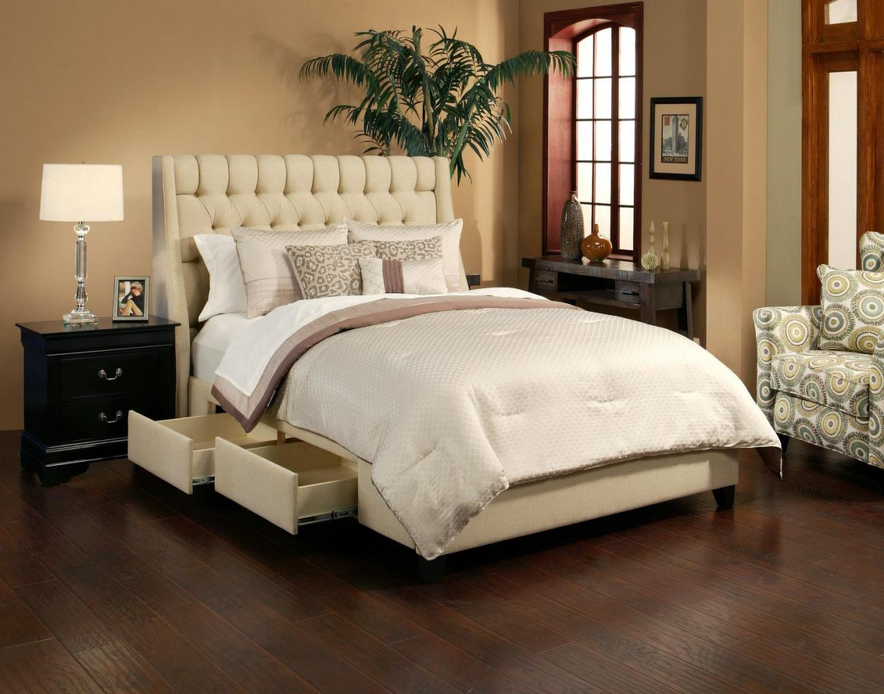 Seahawk Designs Cambridge Complete 4 Drawer Queen Bed in Wheat 22603