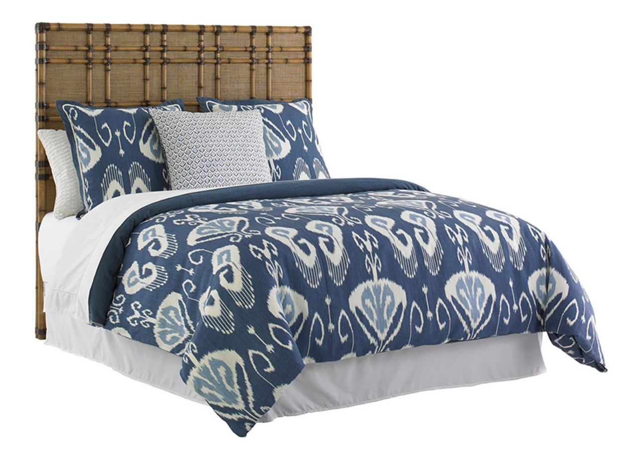 Tommy Bahama Home Twin Palms Coco Bay Queen Panel Bed in Medium Umber 01-0558-133C