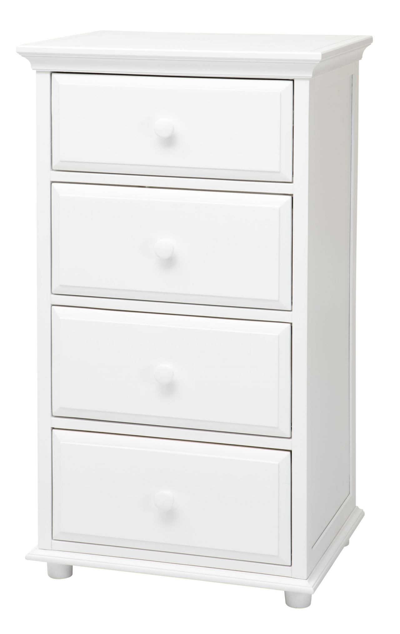 Maxtrix 4.5 Drawer Chest with Crown and Base in White BIG 4.5-002