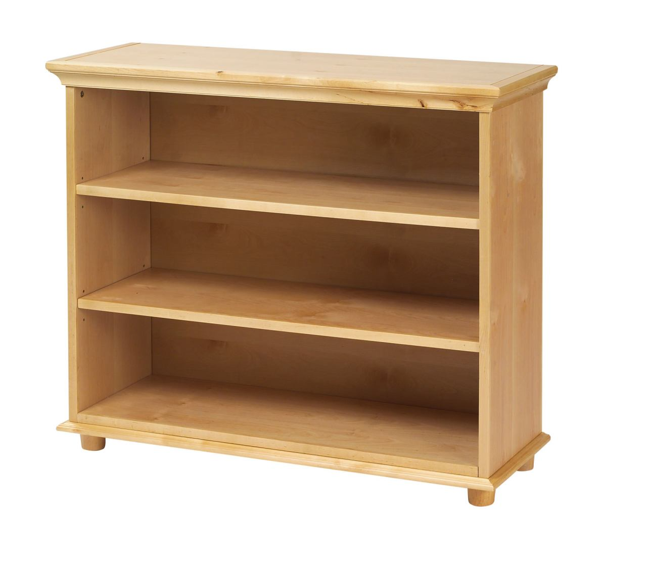 Maxtrix 3 Shelf Bookcase with Crown and Base in Natural HUGE 3-001
