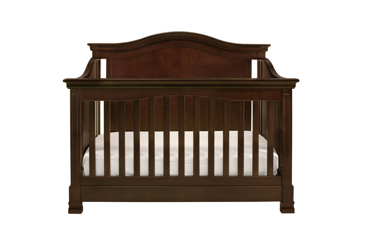 Million Dollar Baby Classic Louis Collection 4 in 1 Convertible Crib with Toddler Rail in Espresso M3401Q