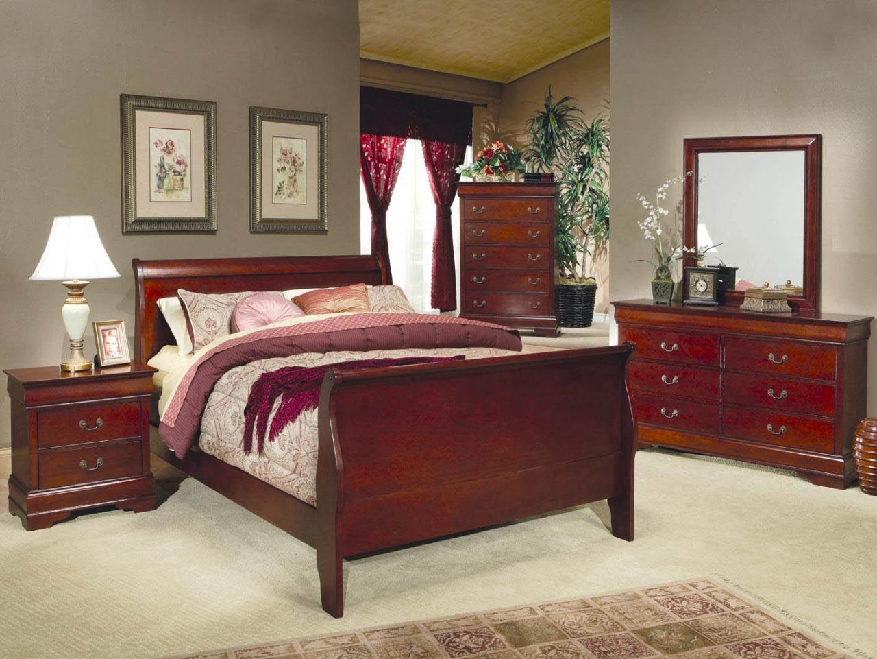 Excellent Sleigh Bedroom Sets Painting