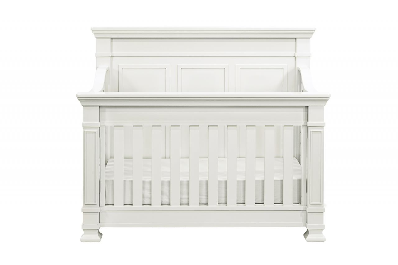 Million Dollar Baby Classic Tillen Collection 4 in 1 Convertible Crib Set in Dove White M76VWSET