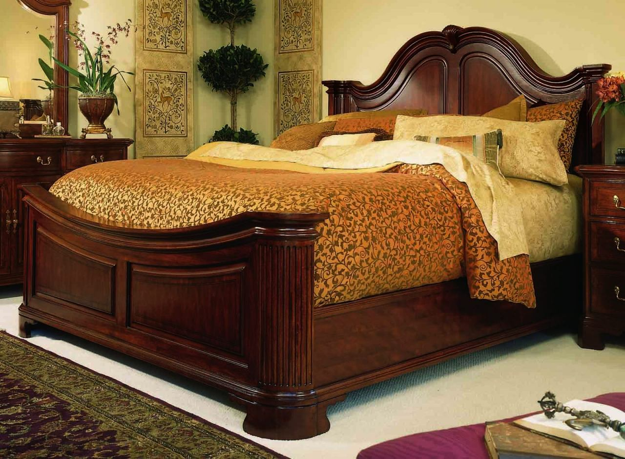American Drew Cherry Grove King Mansion Bed