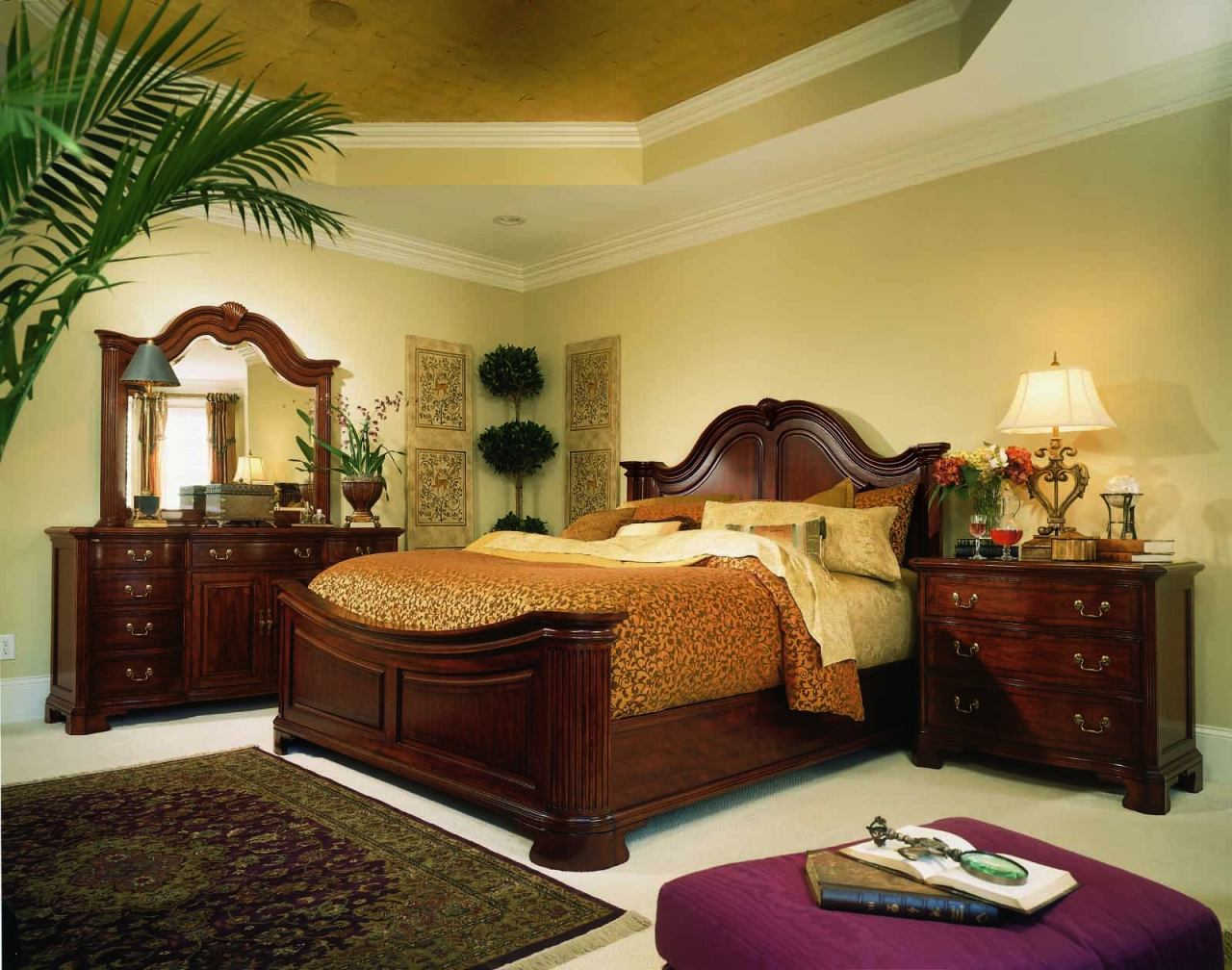 American Drew Cherry Grove Mansion Bedroom Set in Cherry