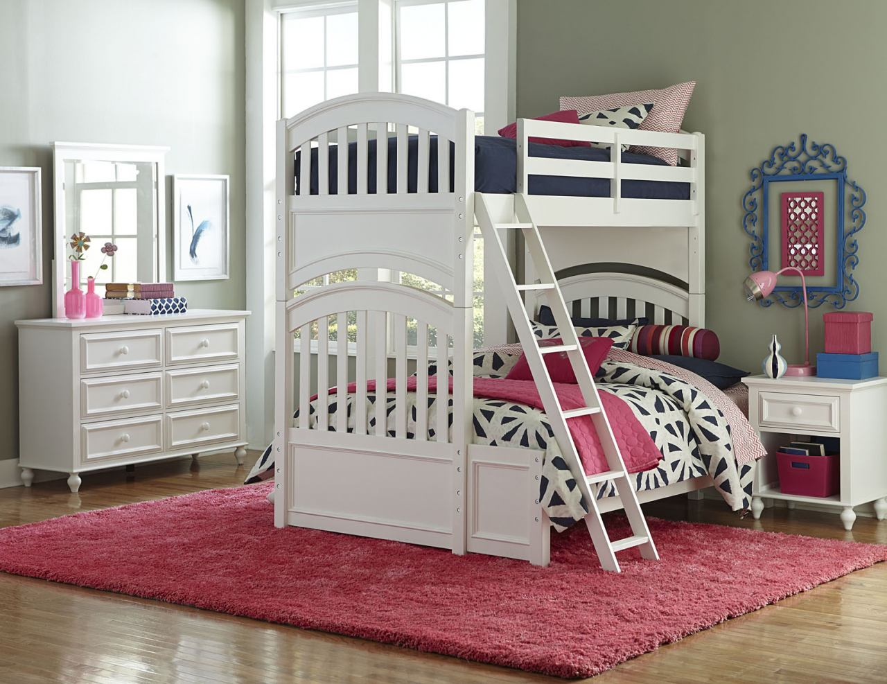 Legacy Classic Kids Academy 4-Piece Bunk Bedroom Set in White
