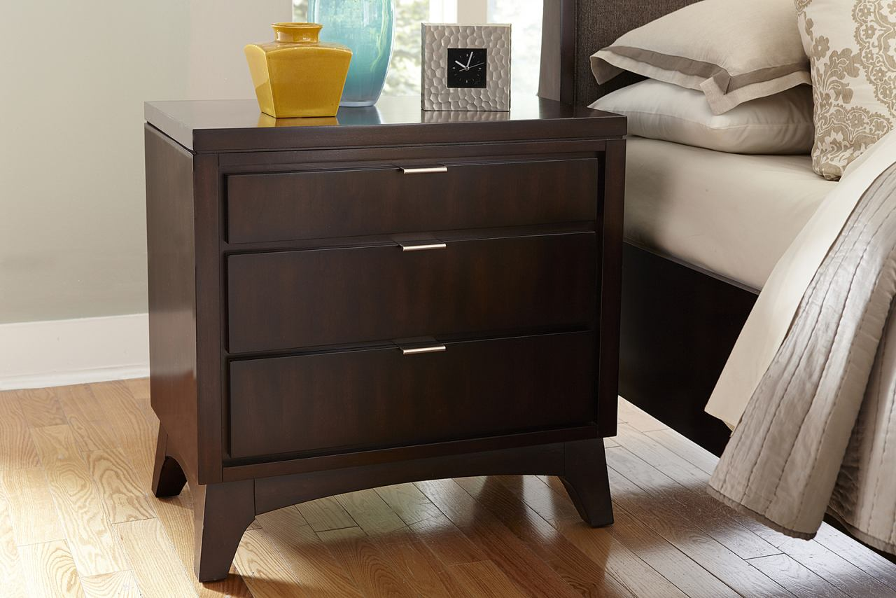 Hillsdale Furniture Denmark 3 Drawer Nightstand in Dark Espresso 1813-771