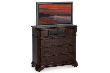New Classic Emilie 5 Drawer Media Console in English Tudor 01-1841-078