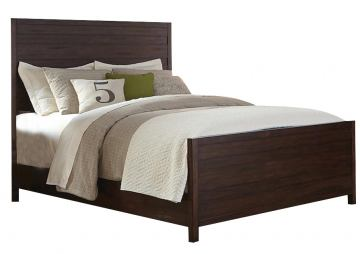 Coaster Donny Osmond Home Lanchester Eastern King Panel Bed in Acacia Cocoa 204291KE