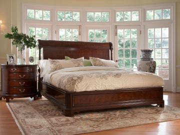 Fine Furniture American Cherry Charleston Platform Panel Bedroom Set in Potomac Cherry 1020