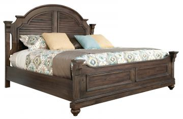 Hekman Homestead Louvered King Bed in Molasses 12266ML