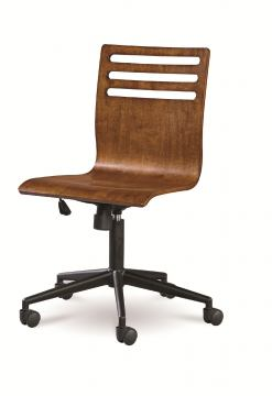 Universal Smartstuff Classics 4.0 Swivel Desk Chair in Saddle Brown 1311071 CLOSEOUT