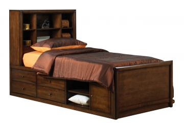 Coaster Hillary Scottsdale Youth Twin Chest Bed in Chocolate Brown 400280T