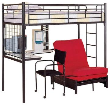Coaster Youth Twin/Futon Bunk Bed in Black 2209