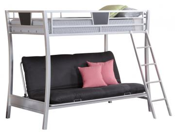 Coaster Youth Twin/Futon Bunk Bed in Silver 460024