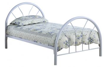 Coaster Youth Twin Panel Bed in White 2389W