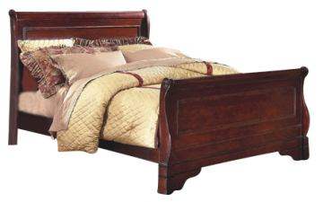 New Classic Versaille California King Sleigh Bed in Bordeaux Finish 1040-211A