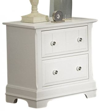 All-American Cottage Collection 2-Drawer Night Stand in Snow White
