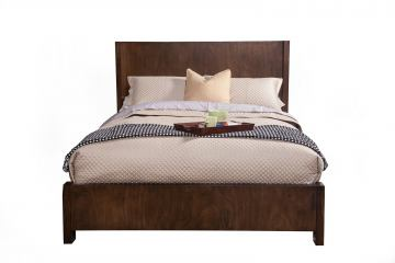 Alpine Furniture Austin Full Size Shelter Panel Bed in Chestnut 11600-08F