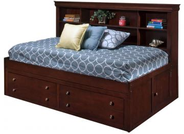 New Classic Versaille Youth Full Lounge Bed in Bordeaux Finish 05-010-412