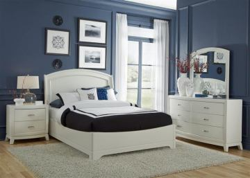 Liberty Furniture Avalon 4 Piece Platform Bedroom Set in White Truffle