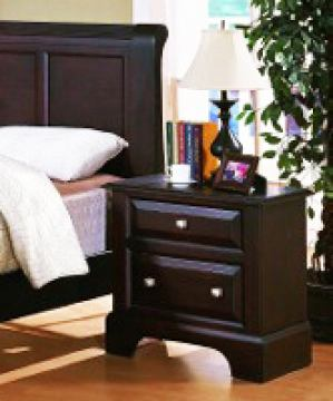 Fairfax Home Furnishings Council Two Drawer Nightstand in Espresso - 2065-01