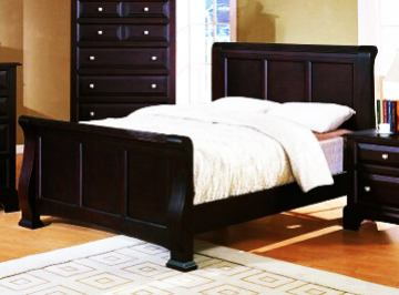 Fairfax Home Furnishings Council King Panel Bed in Espresso