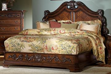 Homelegance Cromwell California King Mansion Bed in Warm Cherry 2106K-1CK